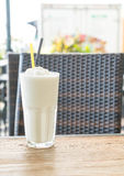 White malt milkshake Stock Images
