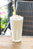 White malt milkshake Royalty Free Stock Image