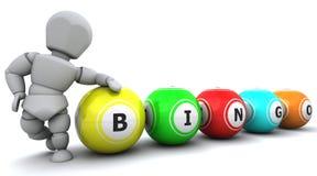 White man with bingo balls Royalty Free Stock Photos