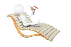 White man on a chaise lounge Stock Image