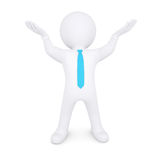 White man raised his hands up Royalty Free Stock Images