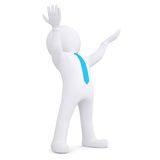 White man raised his hands up Royalty Free Stock Photo