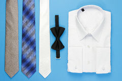 White man shirt with bow and ties Stock Image