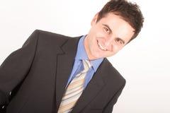 White man in suit portrait Stock Image