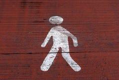 White man walking Stock Image