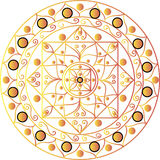 White mandala. Drawing of a white mandala in geometric style Royalty Free Stock Photo