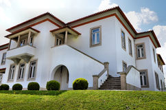 White mansion. Big traditional mansion painted in white and Well maintained Stock Photography