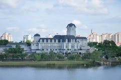 White mansion riverside stock images