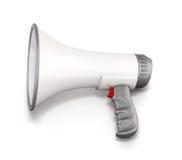 White manual loudspeaker Royalty Free Stock Photography