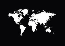 White map of the world. Abstract Royalty Free Stock Photography