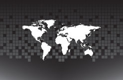White map of the world Royalty Free Stock Image