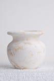 White Marble. Vase on a white background stock photography