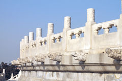 White marble bannister. Of Chinese traditional architecture. (in Beijing Temple of Heaven royalty free stock image