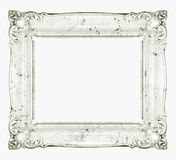 White marble baroque frame Royalty Free Stock Photo