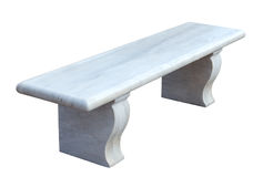 White marble bench royalty free stock image
