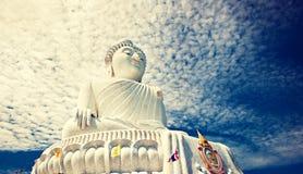 White marble Buddha statue. Thailand. Royalty Free Stock Photos