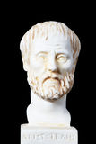 White marble bust of the greek philosopher Aristotle Royalty Free Stock Photography