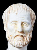 White marble bust of the greek philosopher Aristotle Stock Images