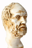 White marble bust of the greek philosopher Democritus Royalty Free Stock Images