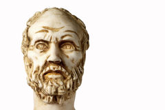 White marble bust of the greek philosopher Democritus Stock Image