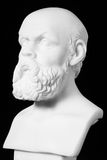 White marble bust of the greek philosopher Socrates, isolated on Royalty Free Stock Images
