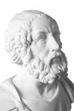 White marble bust of the greek poet Homer Stock Images
