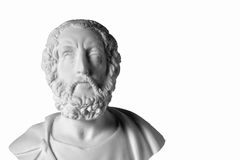 White marble bust of the greek poet Homer Stock Photos