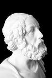 White marble bust of the greek poet Homer Royalty Free Stock Photo