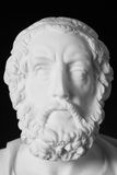 White marble bust of the greek poet Homer isolated on black Royalty Free Stock Photos