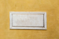 White marble classic blank nameplate with empty space for text Stock Photos