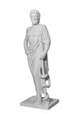 White marble classic statue of Asclepius Stock Photos
