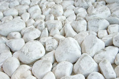 White marble cobbles Stock Images