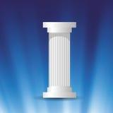 White marble column Stock Image