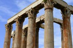 White marble column head detail of Zeus temple Royalty Free Stock Photo