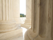White Marble Columns at US Supreme Court Building in Washington Stock Photos