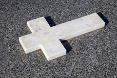 White marble cross Royalty Free Stock Photo