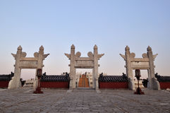 White marble gate in The Temple of Heaven Royalty Free Stock Photography