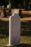 White Marble Grave Marking in Fall II. White Marble Grave Marking in Fall at the Rochester Michigan Cemetery royalty free stock photography