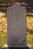 White Marble Grave Marking in Fall. At the Rochester Michigan Cemetery royalty free stock photos