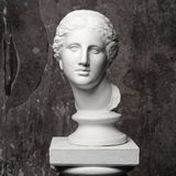 White marble head of young woman Stock Photos