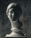 White marble head of young woman Stock Images