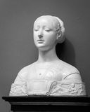 White marble head of young woman Stock Image