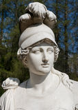 White marble head of young woman Royalty Free Stock Photo