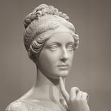 White marble head of young woman Royalty Free Stock Photos