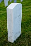 White Marble Headstone or Gravestone Royalty Free Stock Images