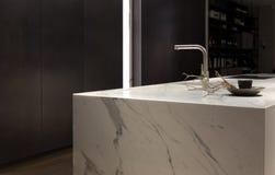 Free White Marble Kitchen Stock Image - 78935311