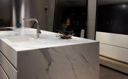 Free White Marble Kitchen Stock Photography - 78935602