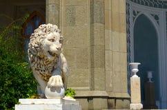 White marble lion Royalty Free Stock Photo