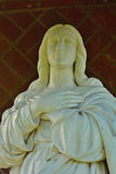 White marble Maria statue Stock Images