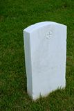 White Marble Military Style Headstone or Gravestone Stock Photography